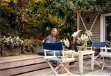 Kit Woolcott in his Fire Island Garden